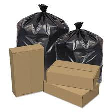 "TRASHBAG/ Low Density/ 40""w x 46""h 1.5 mil Black Item# EC404615K"