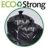 "TRASHBAG/ Low Density/ 38""w x 58""h 1.35 mil Black Item# EC3858135K"