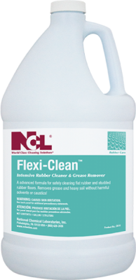 "CLEANER/ ""Flexi-Clean"" Rubber Floor Cleaner"