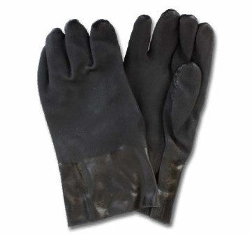 "GLOVES/ Work/ Black PVC Rough 18"" Gloves"