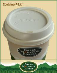CUP/ Paper Coffee Hot Cup, Green Mountain, Dome Lid, 100 lids per sleeve