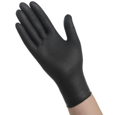 GLOVES/ Disposable/ Black Nitrile Powder Free/ Heavyweight