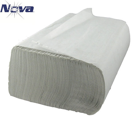 HAND TOWEL/ Folded/ Multifold, White #NOVA 200MB