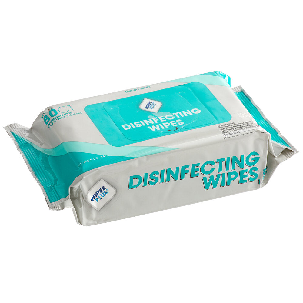 DISINFECT/WIPES PLUS 80 COUNT FOIL PACK