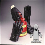 "GLOVES/ Work/ PVC Rough Grip 12"" Gloves Black with Actifresh"