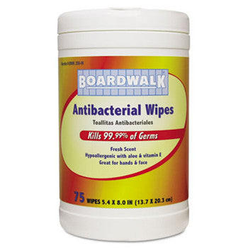 DISINFECT/ Boardwalk Antibacterial Wipes for Hands and Face