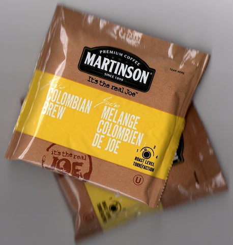 "IN-ROOM COFFEE/ Martinson Soft Pod/ ""Joe's Colombian Brew"", 100/cs"