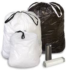 "TRASHBAG/ Low Density/ 24"" x 28""/ .7 mil Draw-Tuff White Item# DT12GALW"