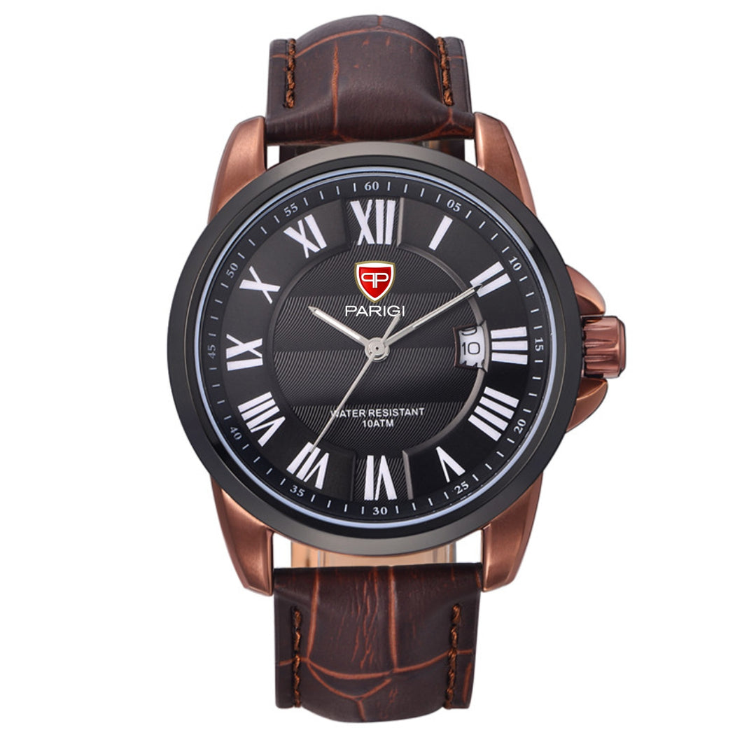 Paragi Man Watch Item 00601 Black / Coffee