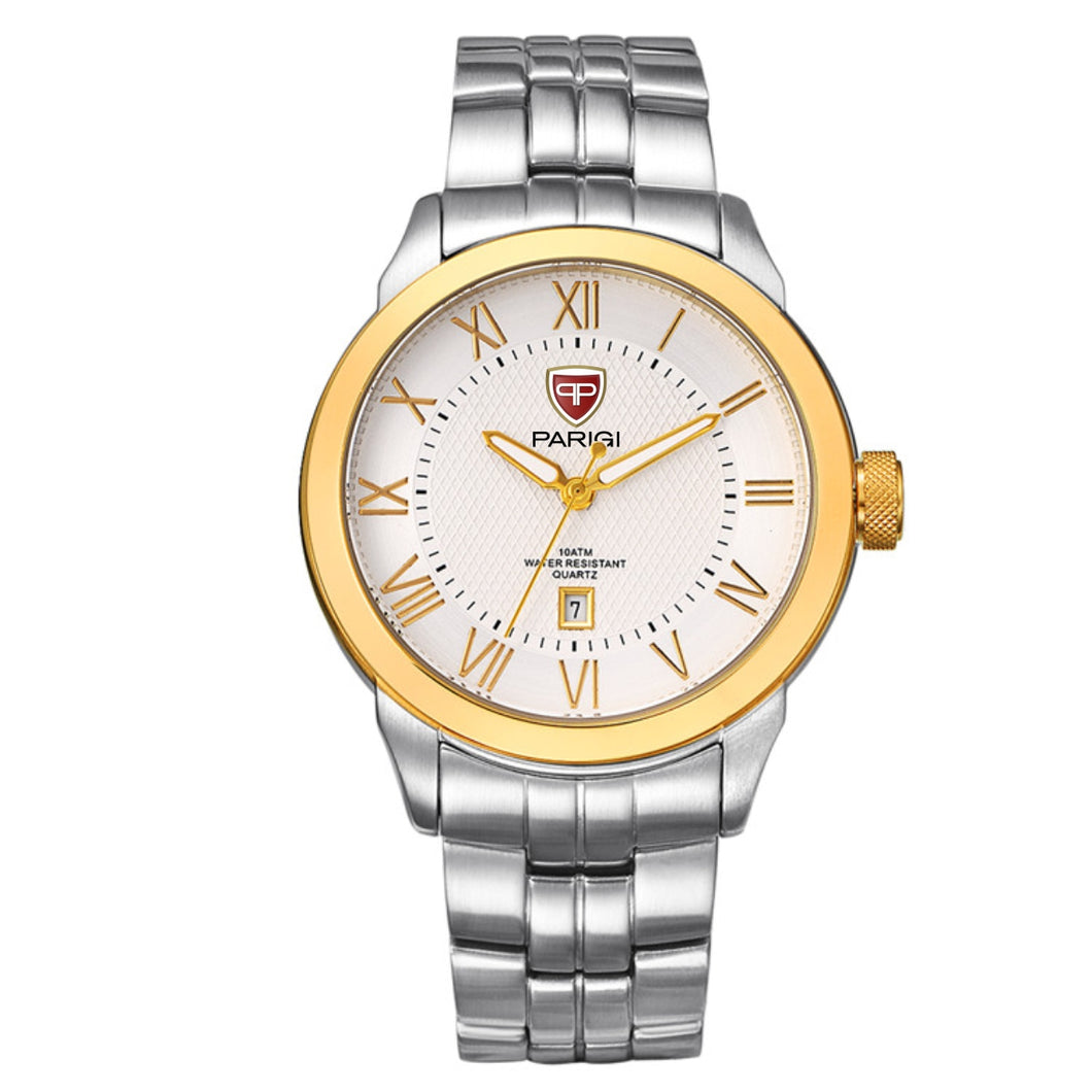 Paragi Man Watch Item 01002 Silver / Gold