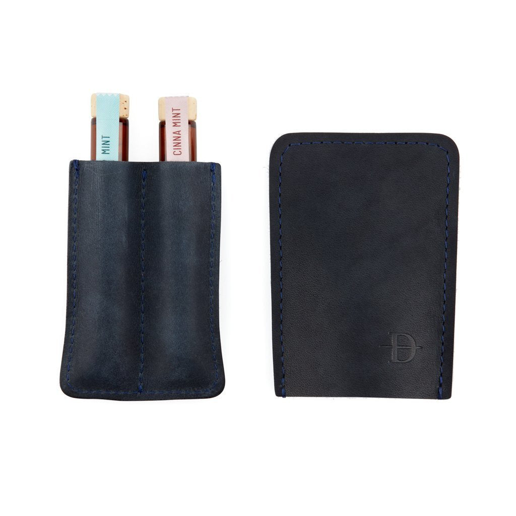 Navy Two-Finger Leather Case - Daneson EU