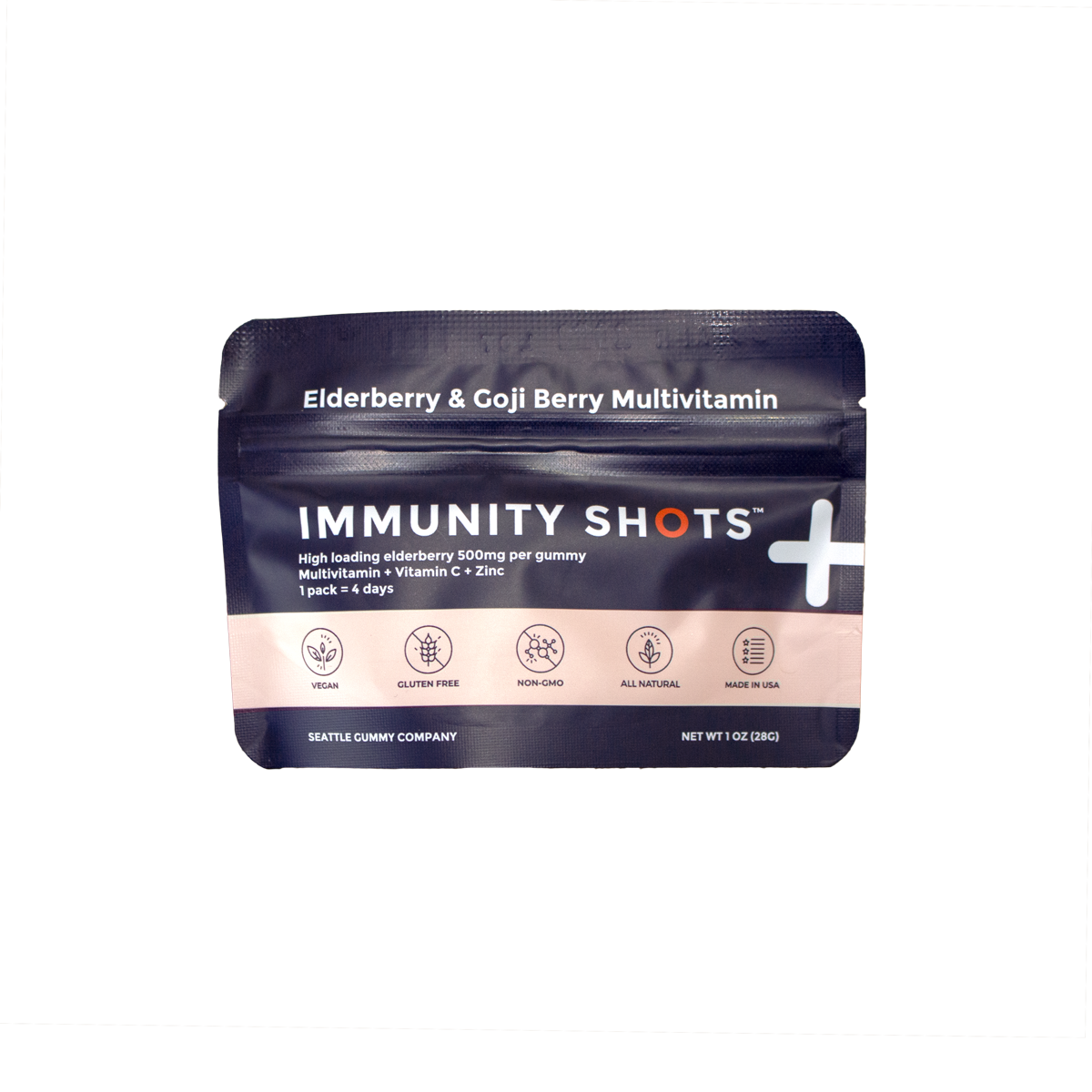 Immunity Shots Elderberry and Goji Berry Multivitamin (12 pack)