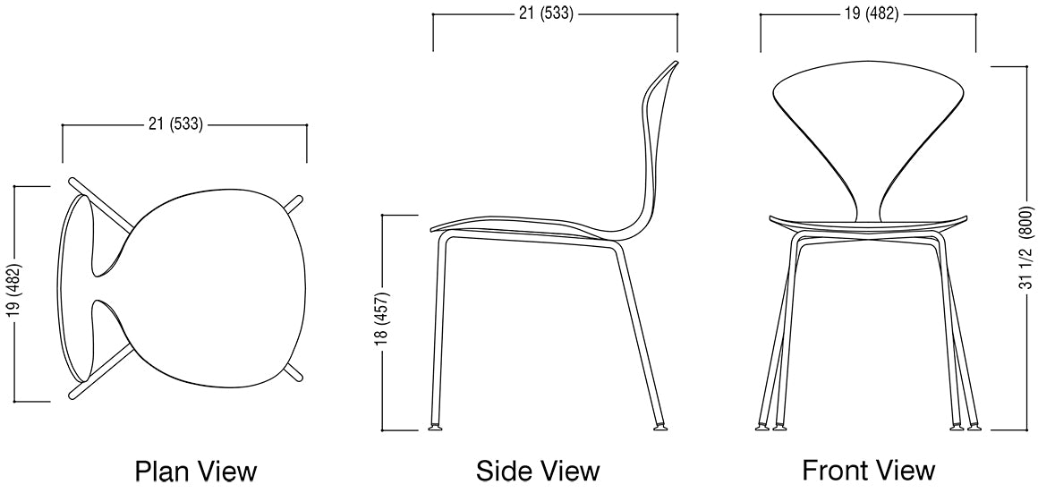 Metal Base Chair Schematic