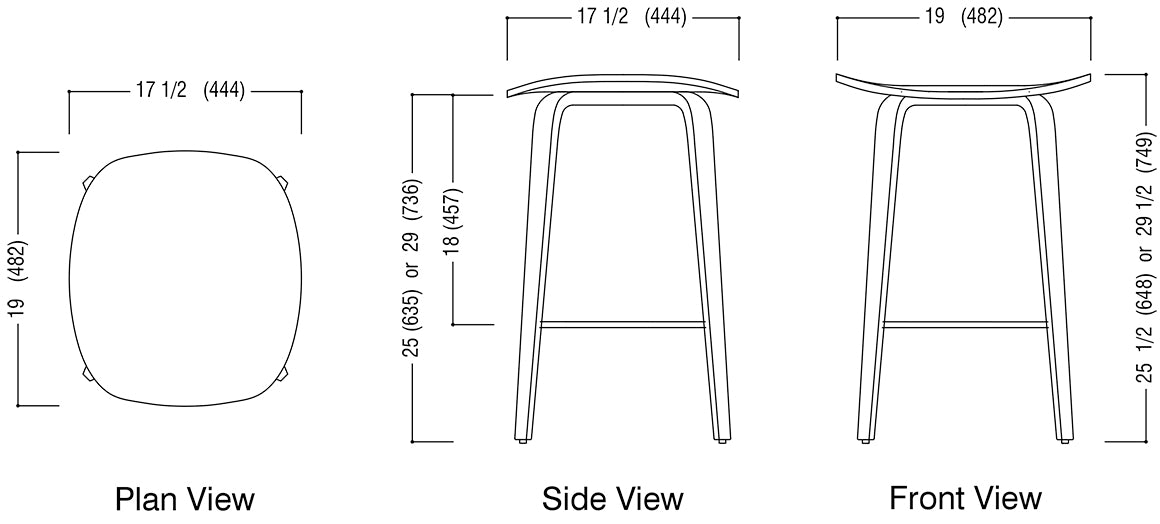 Under Counter Stool Schematic