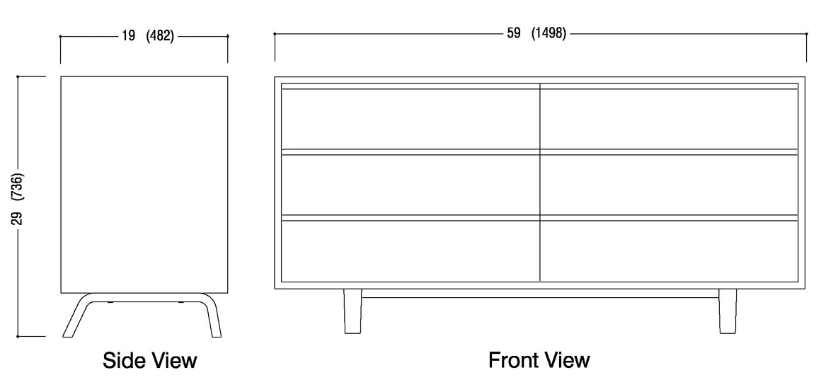 6 Drawer Dresser Schematic