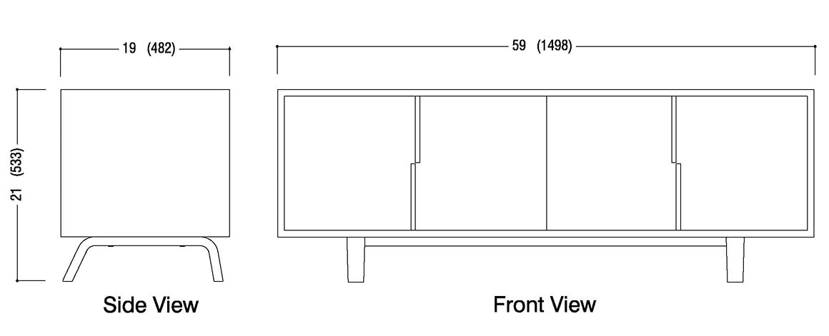 All Door Credenza Schematic