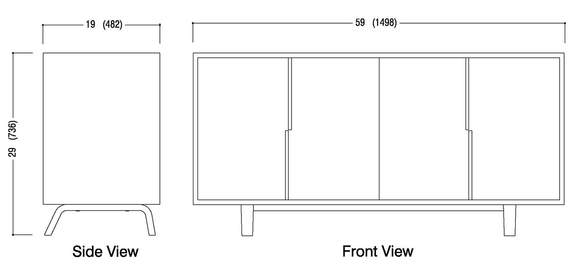 All Door Sideboard Schematic