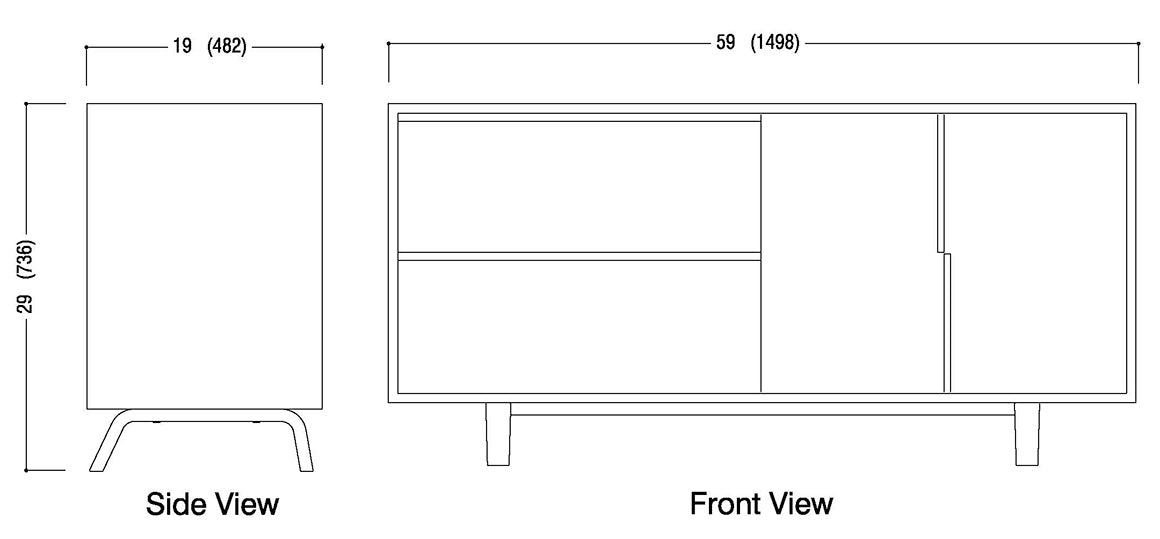 Lateral File Drawers with Cabinet Schematic