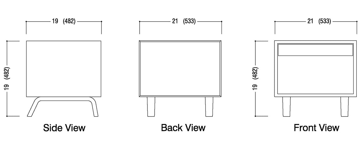 Bedside Table Schematic