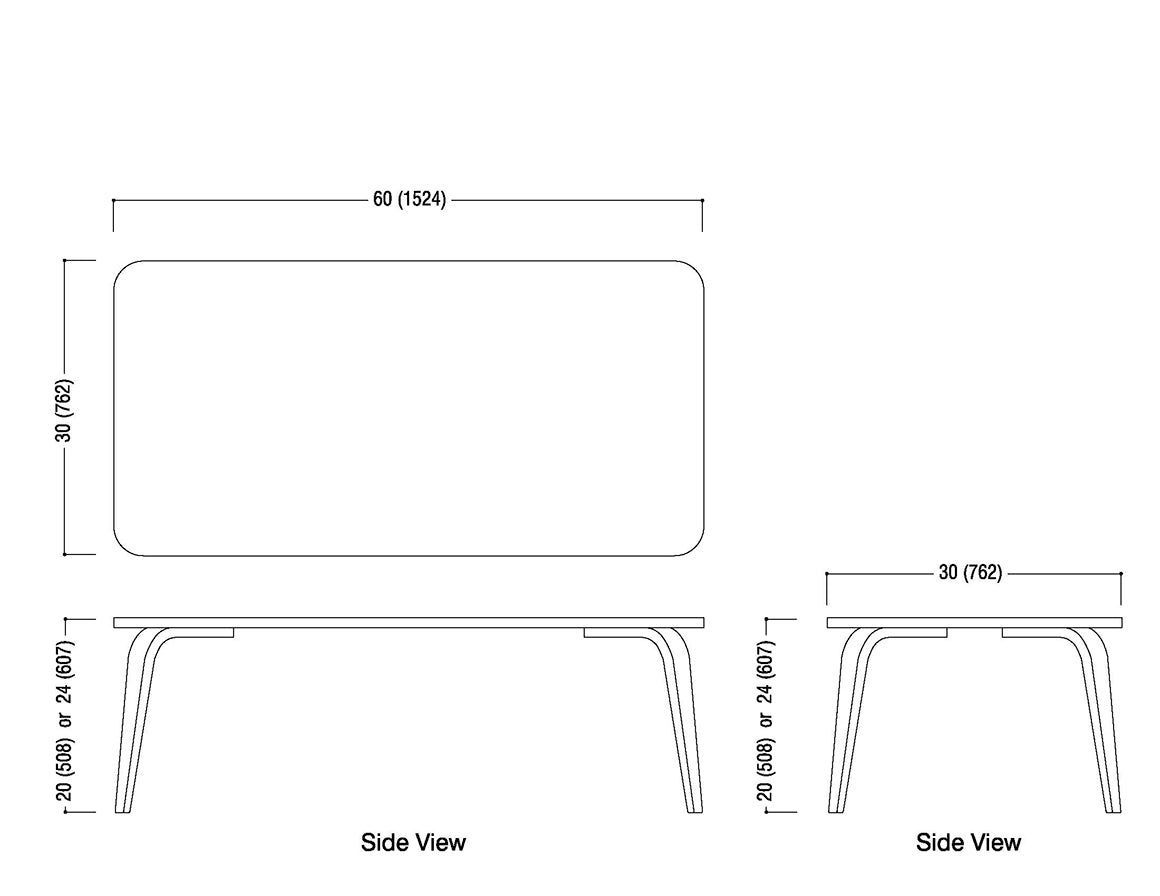 30x60 Classroom Table Schematic