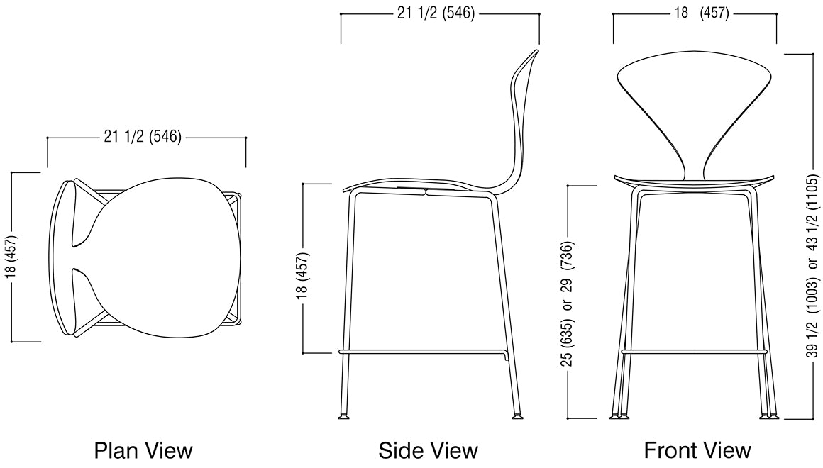 Metal Base Stool Schematic