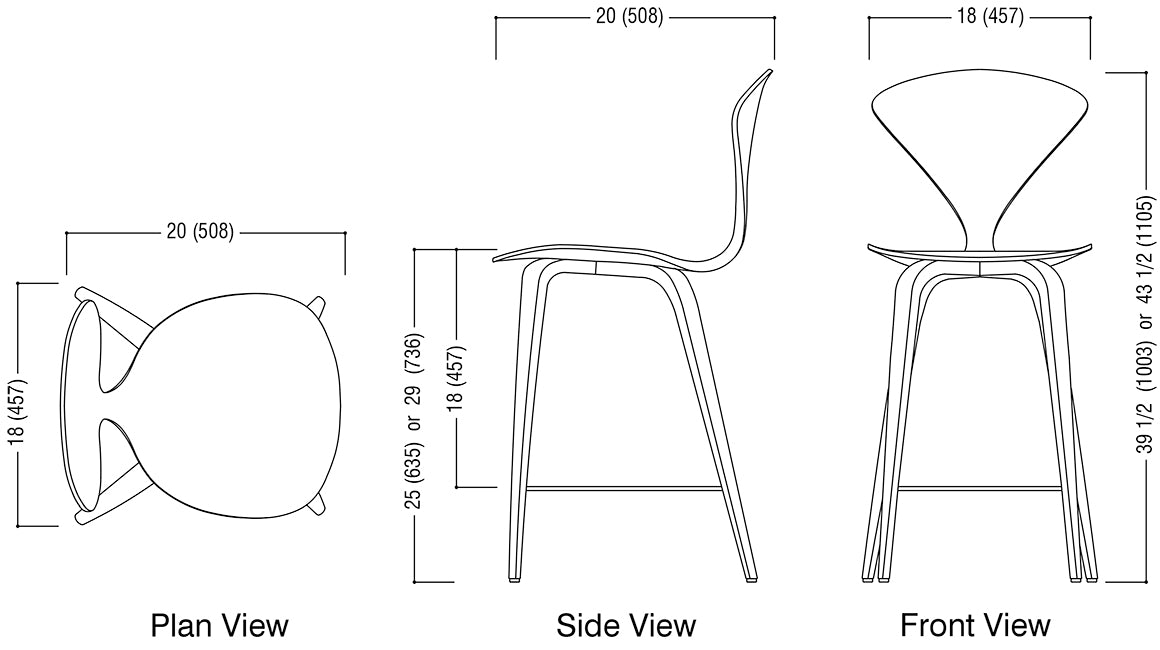 Wood Base Stool Schematic