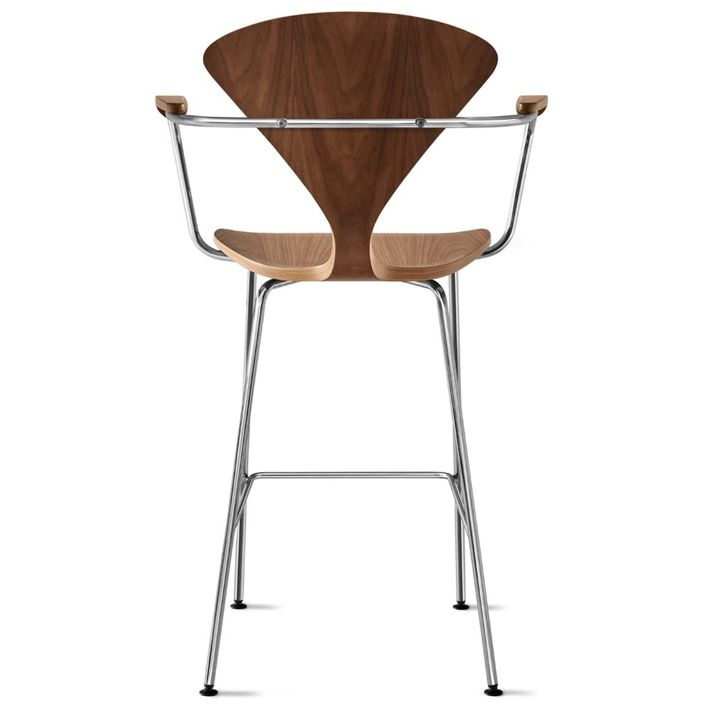 Metal Base Stool with Arms - no upholstery pad