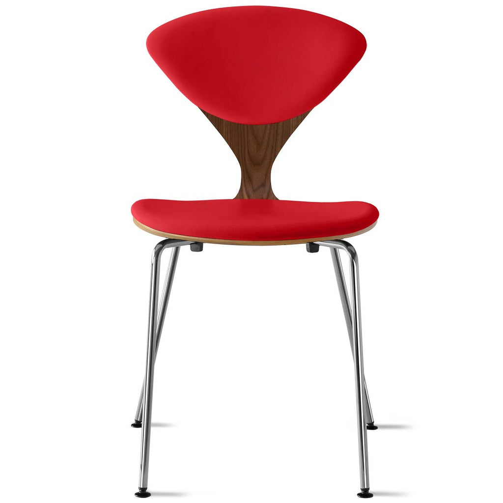 Metal Base Side Chair – with seat and back pads