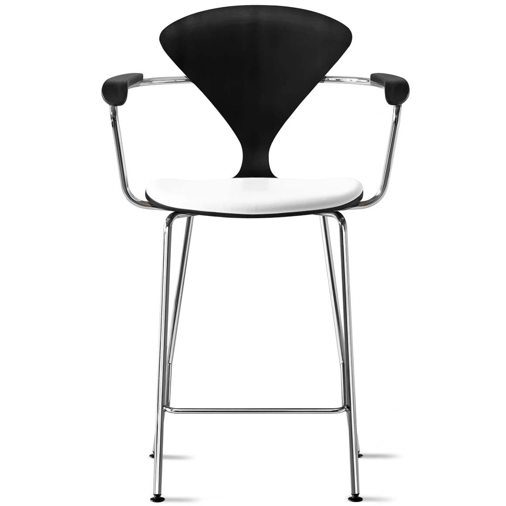 Metal Base Stool with Arms – seat pad only