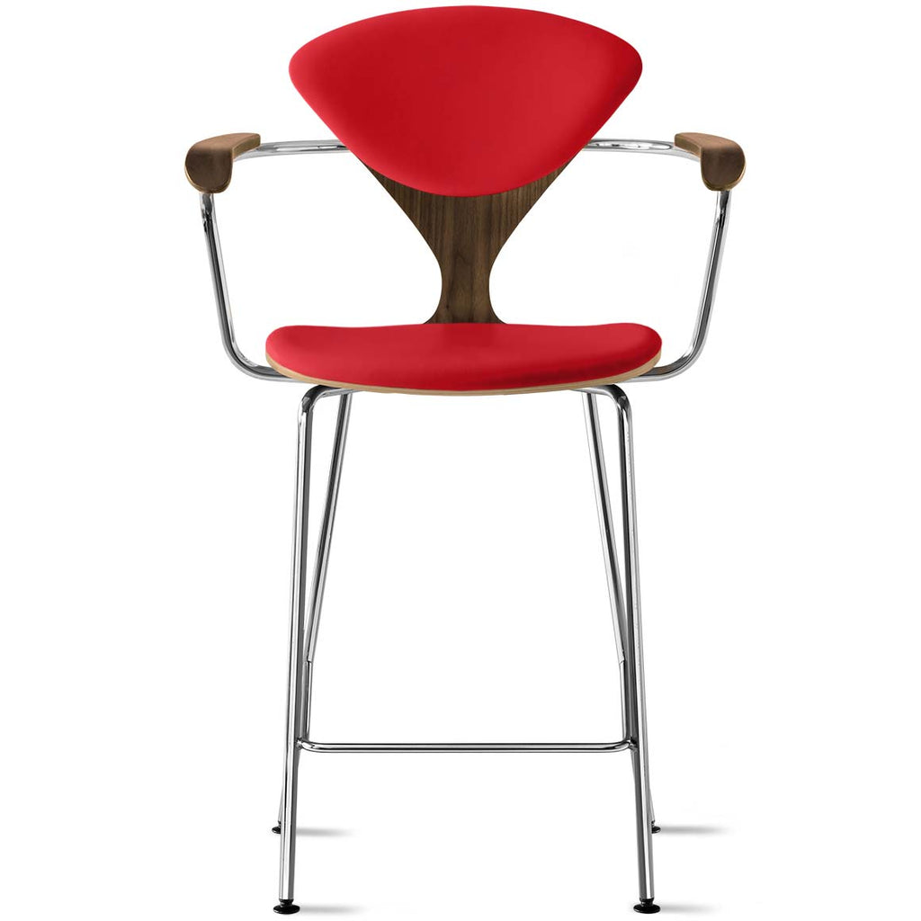 Metal Base Stool with Arms – seat and back pads