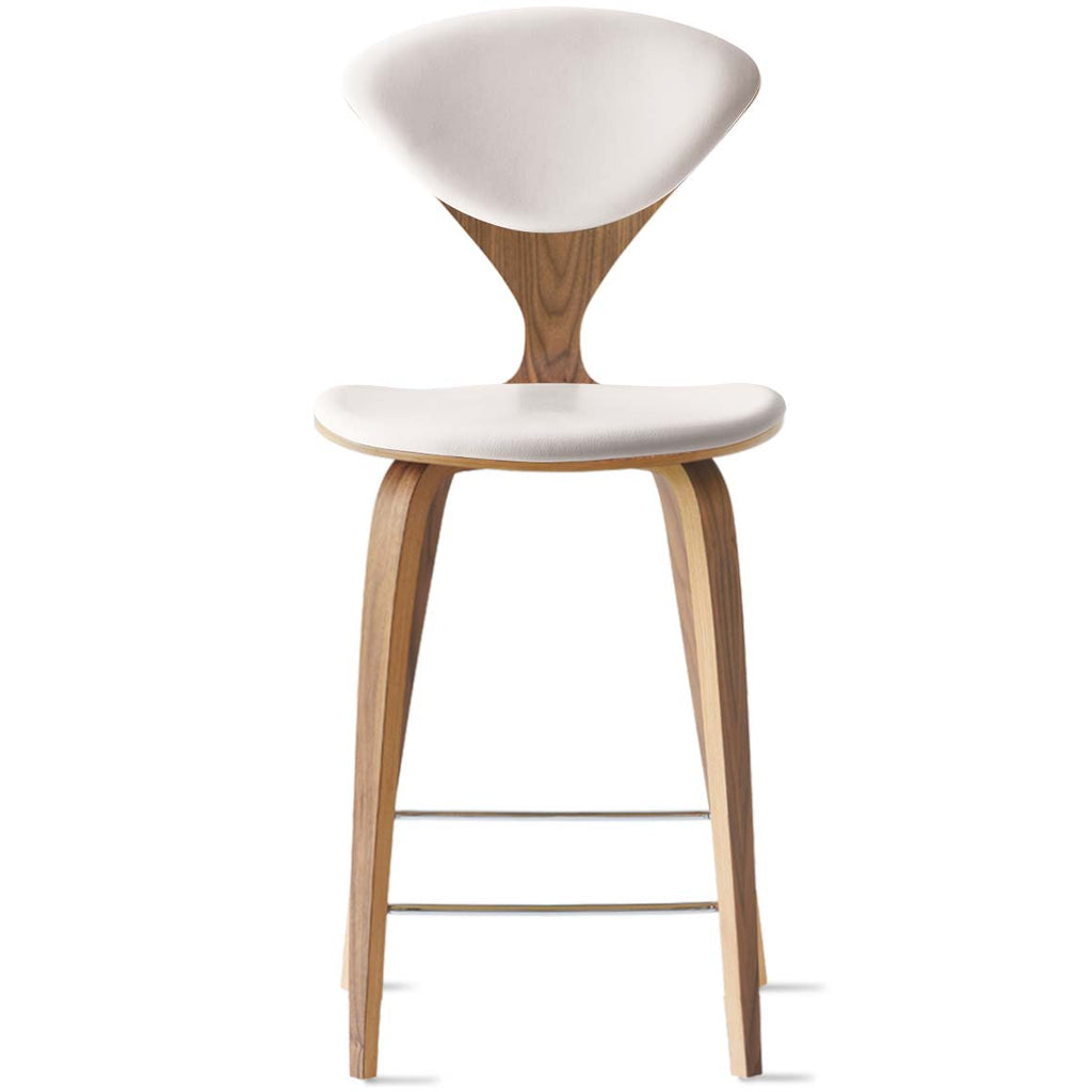 Wood Base Stool – with seat and back pads