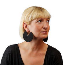 Load image into Gallery viewer, African Spiral Earrings / Matte Black