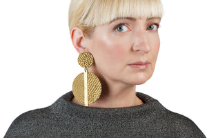 Hammered Spiral Earrings / Gold