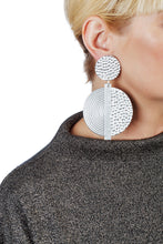 Load image into Gallery viewer, Hammered Spiral Earrings/ Silver