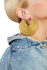 African Spiral Earrings / Gold