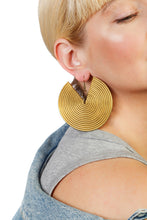 Load image into Gallery viewer, African Spiral Earrings / Gold