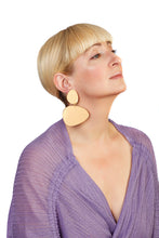 Load image into Gallery viewer, Plexiglass Gold-Mirror Pebbles Earrings/ Gold