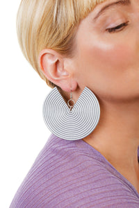 African Spiral Earrings/ Silver