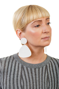 Bells Earrings / White