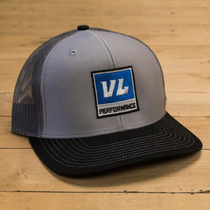 Snapback Gray Trucker Hat - Blue Logo