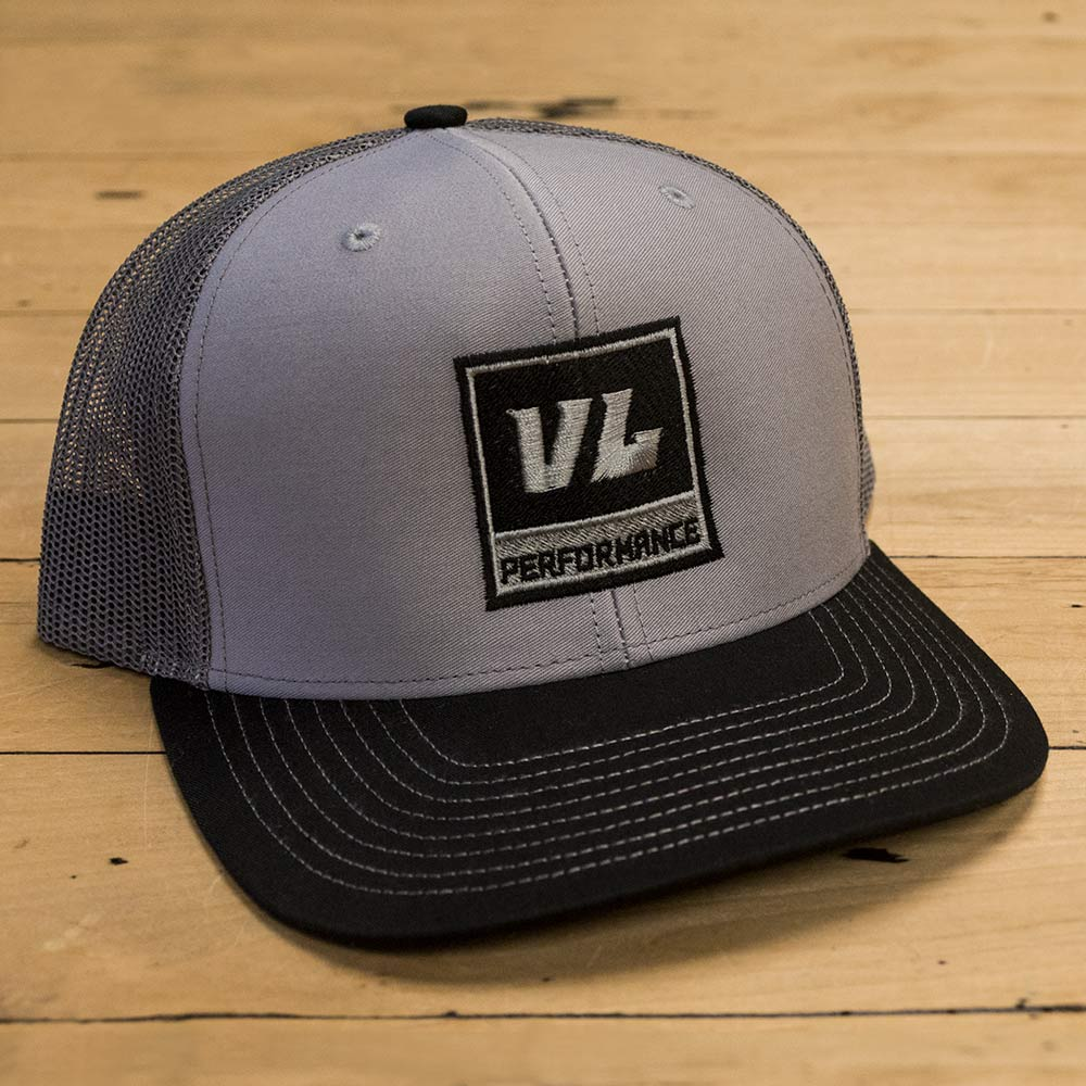 Snapback Gray Trucker Hat - Black Logo