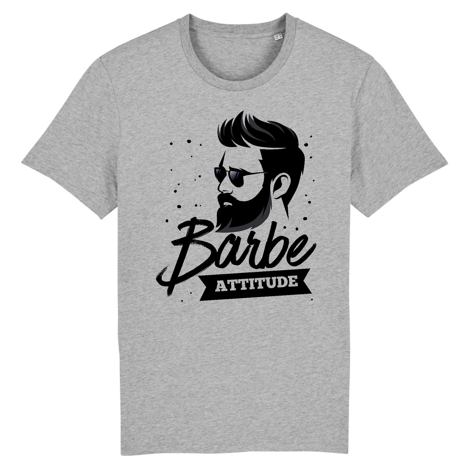 T-Shirt Barbe Attitude Gris