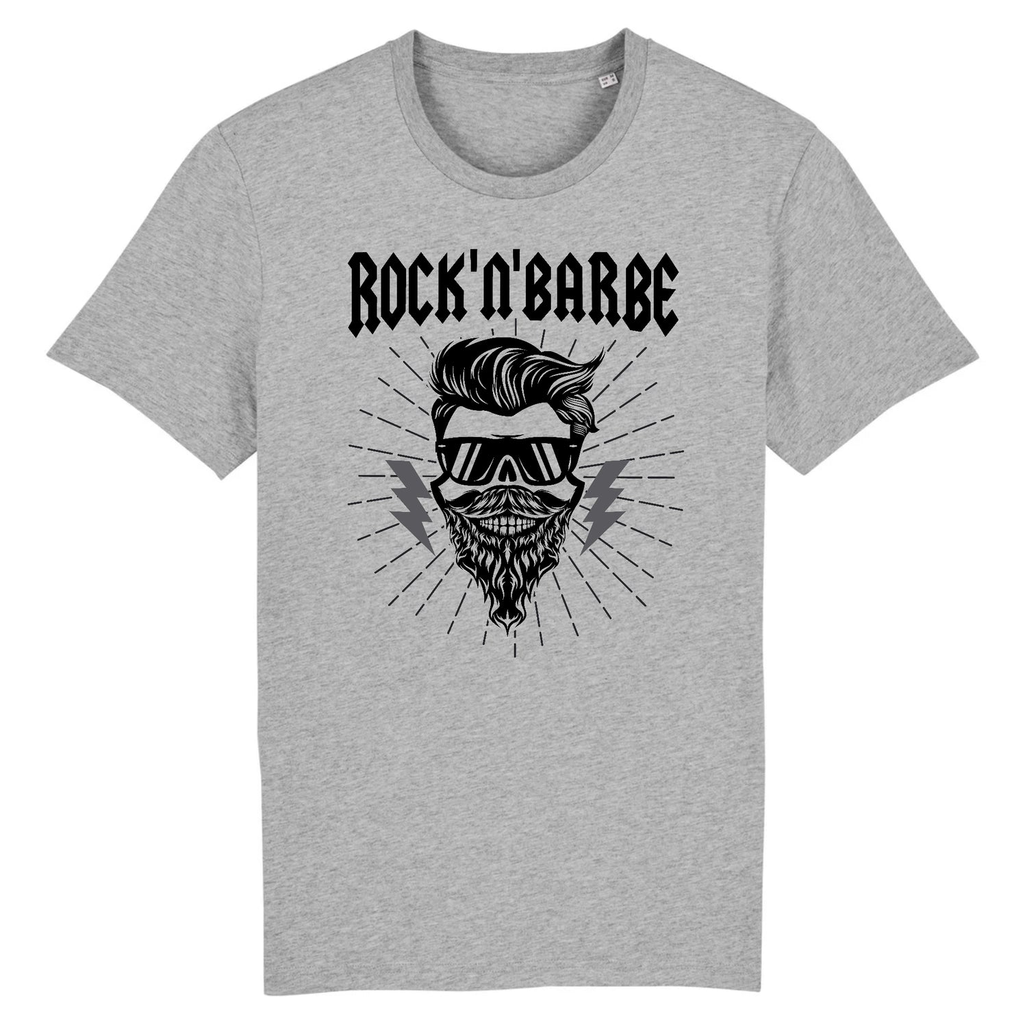 T-Shirt Barbe Rock'n'Barbe Gris