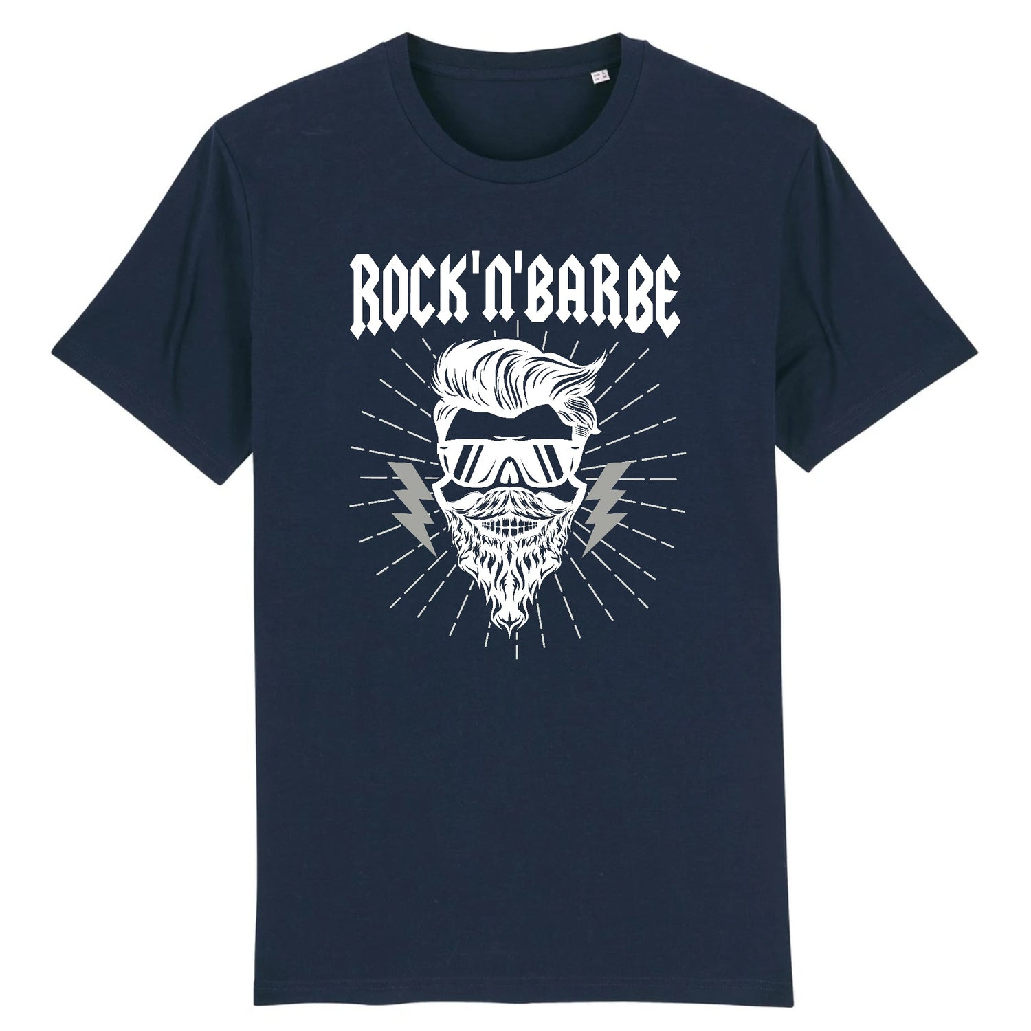 T-Shirt Barbe Rock'n'Barbe Marine