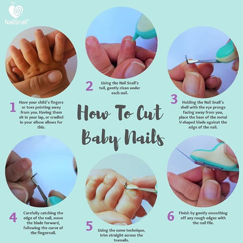 How to use the Nail Snail to cut baby nails