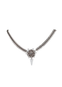 Transparent spiked necklace