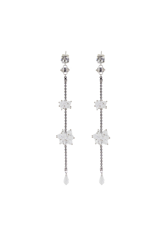 Long crystal earrings