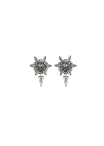 ANTIQUE SILVER SPIKED FLOWERS