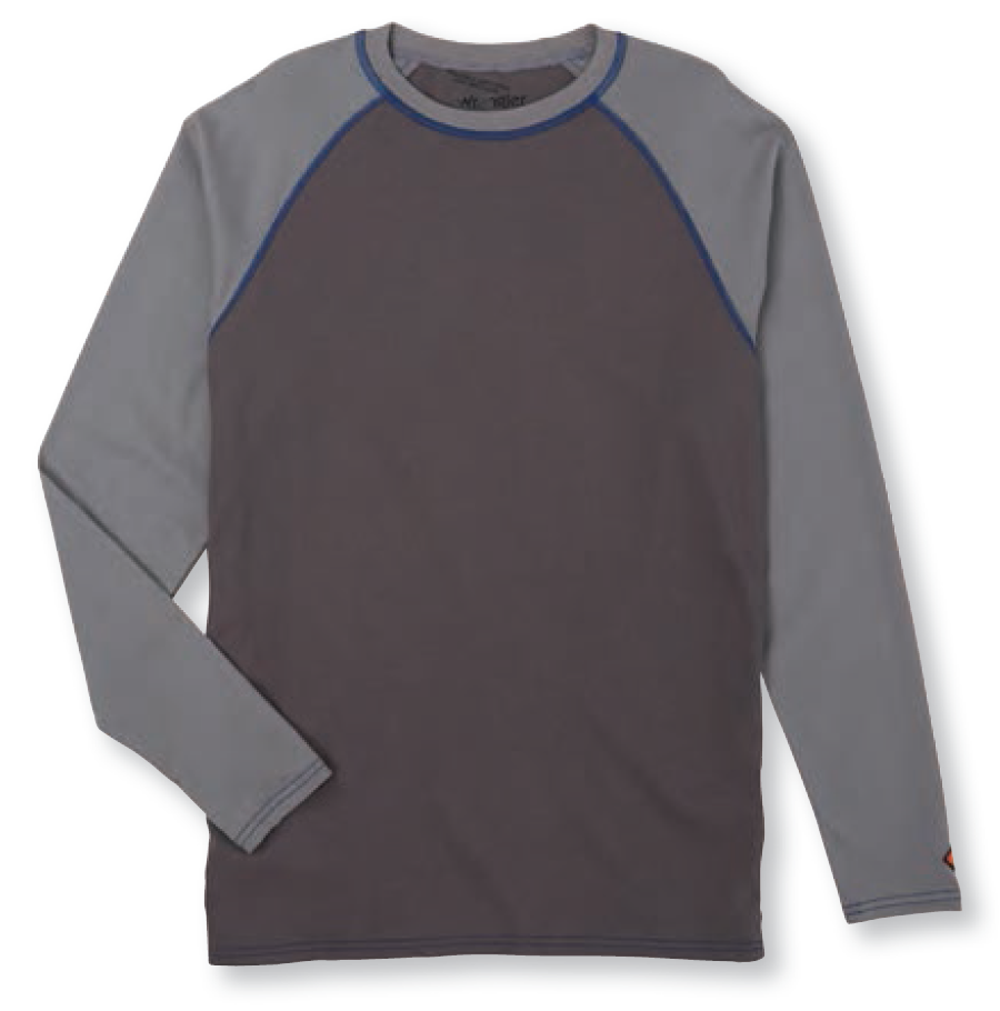 FR Baseball Tee Long Sleeve, Grey