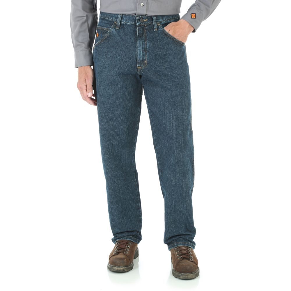 Riggs FR Carpenter Jeans, Indigo Crosshatch